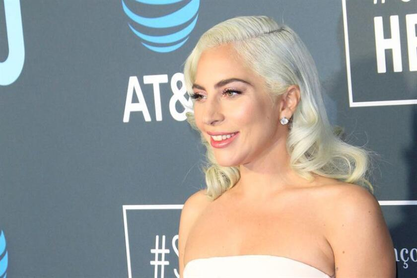 United States singer-songwriter Lady Gaga arrives for the 24th Annual Critics' Choice Awards at Barker Hangar in Santa Monica, California, USA. EFE/FILE