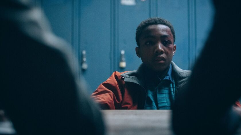 "Asante Blackk as Kevin Richardson, a teenager accused of rape in Ava DuVernay's Netflix docudrama ""When They See Us."""