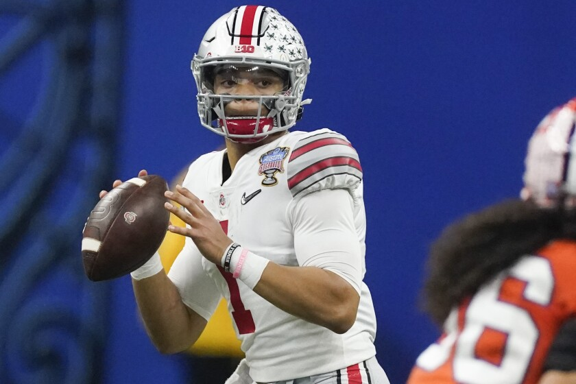 The status of Ohio State quarterback Justin Fields is one of the great mysteries of this year's NFL Draft.
