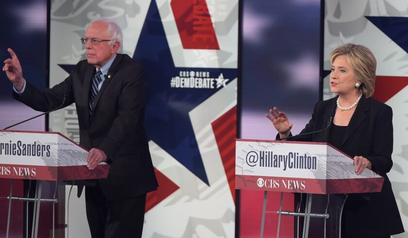 From the debate's opening moments, Hillary Clinton sought to demonstrate her extensive experience with foreign affairs, and her rivals, Sen. Bernie Sanders and former Maryland Gov. Martin O'Malley, tried to turn it against her.