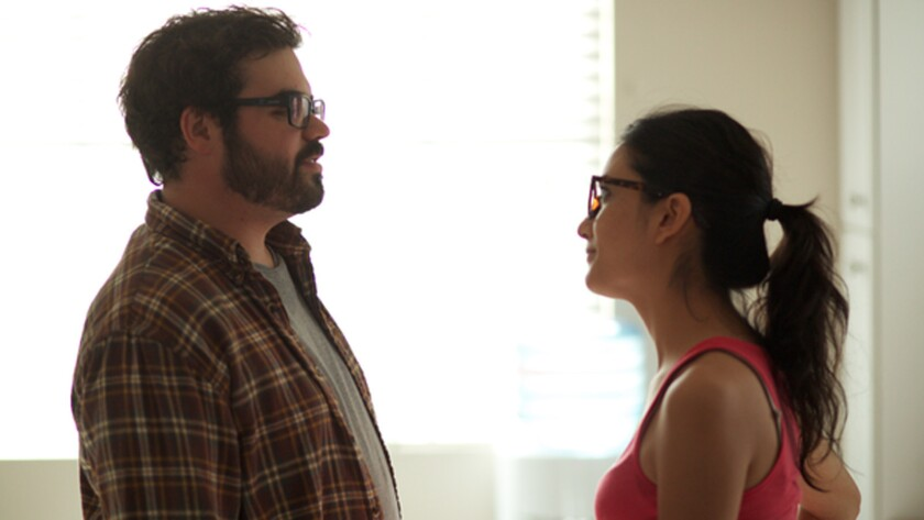 "Joe Burke and Benita Robledo in the movie ""Dependent's Day."""