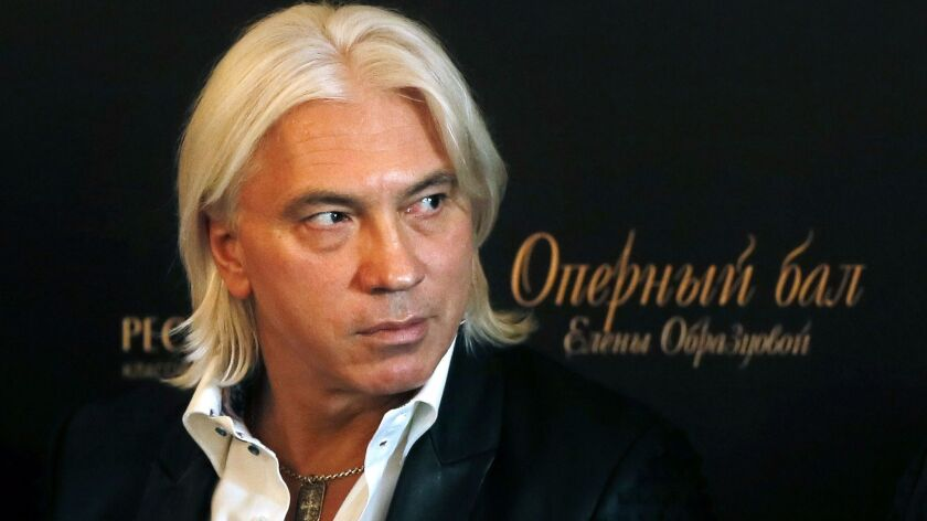 Russian baritone Dmitri Hvorostovsky attends a press conference in Moscow in 2014.