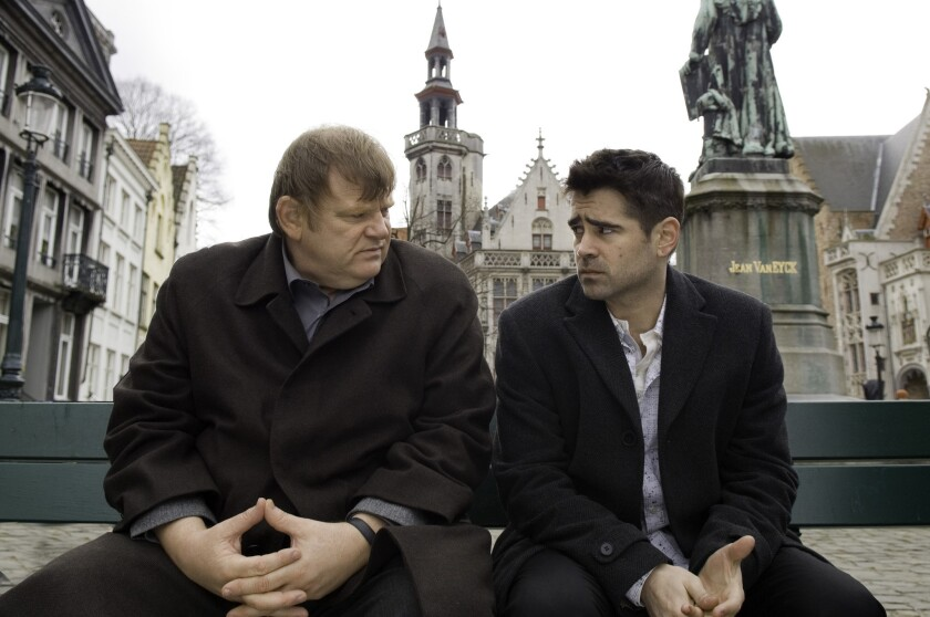 "Brendan Gleeson, left, and Colin Farrell star in ""In Bruges."""