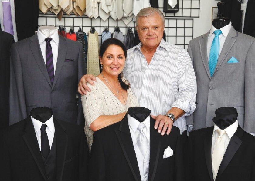 Jerry and Janet Klein, owners of A Better Deal Tuxedo, 369 Bird Rock Ave., La Jolla. (858) 551-6044. abetterdealtuxedo.com