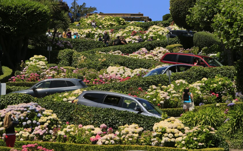 Concentrated tourist areas in San Francisco like the cityÕs famously curvy Lombard Street have seen