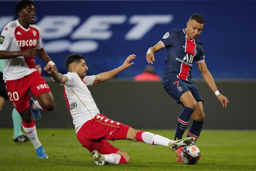 Monaco's Guillermo Maripan,