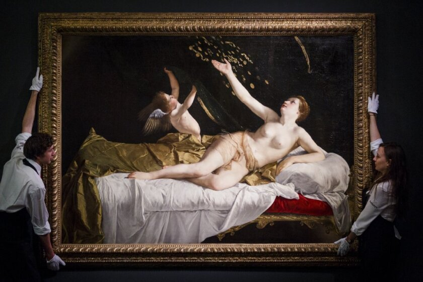 "Orazio Gentileschi's Baroque masterpiece ""Danae"" (circa 1621) has been acquired by the J. Paul Getty Museum at auction."