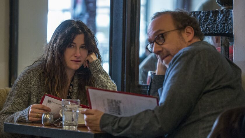 """(L-R) - Kathryn Hahn and Paul Giamatti in a scene from """"Private Life."""" Credit: Jojo Whilden / Netfl"""