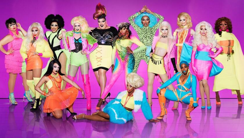 """The cast from """"RuPaul's Drag Race"""" Season 10."""