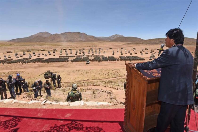 """El presidente bolivano, Evo Morales reivindicó hoy las asambleas y las movilizaciones como """"la mejor educación y comunicación"""" de los pueblos indígenas en la inauguración de la III Cumbre de Comunicación Indígena """"Abya Yala"""" en el municipio de Tiquipaya, en el departamento de Cochabamba."""
