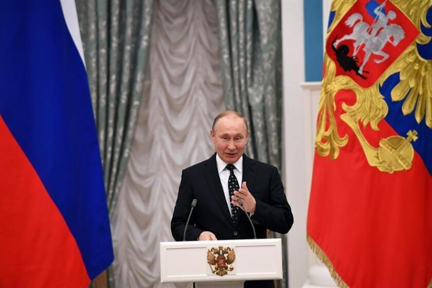 El presidente ruso, Vladímir Putin (i). EFE/Archivo