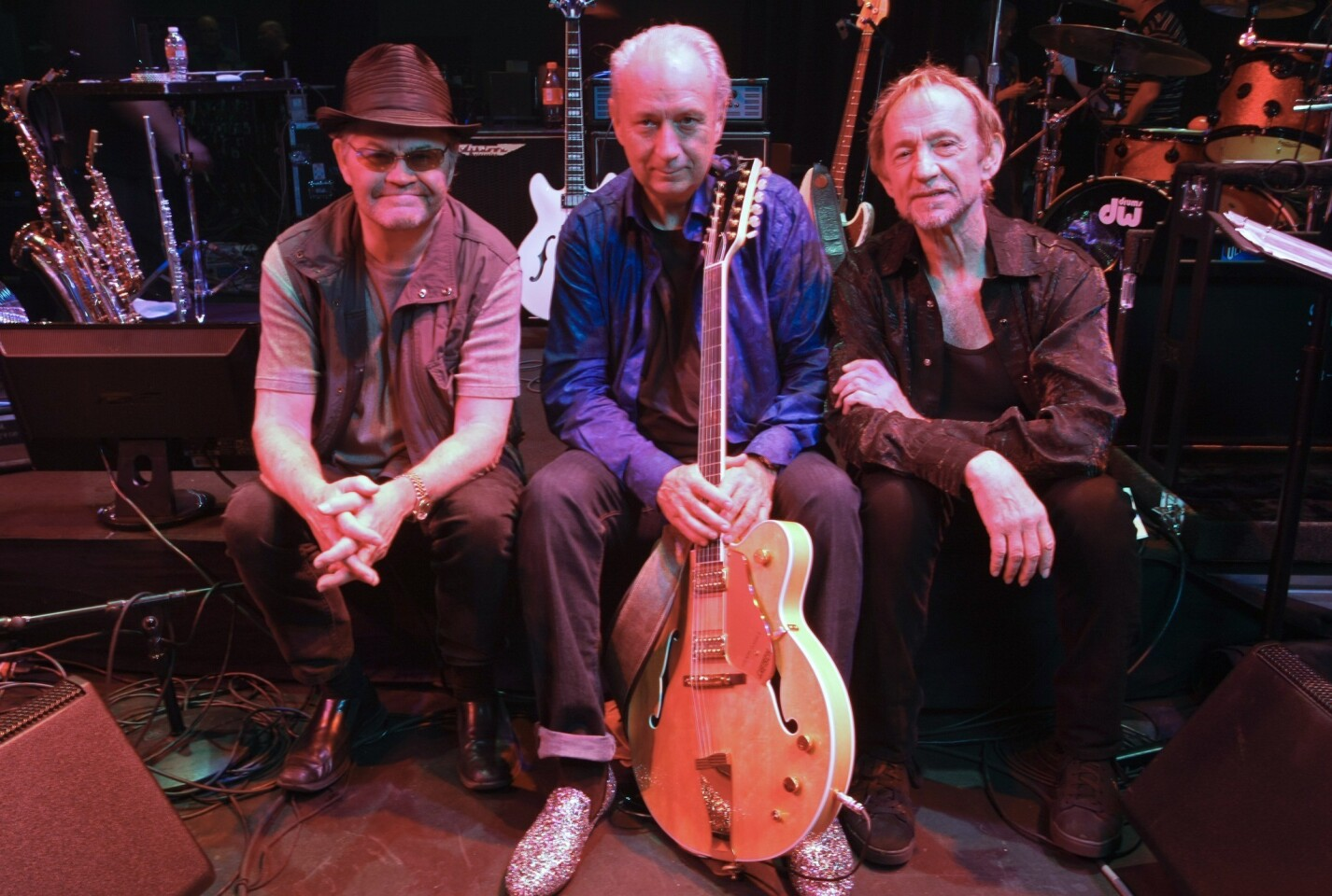 Micky Dolenz, Mike Nesmith and Peter Tork after a rehearsal concert kicking off their 2012 reunion tour.