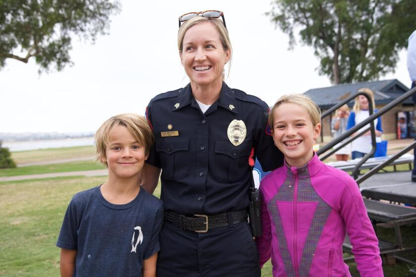 Lifeguard Sgt. Kerry Brown with Nathan and Bridget Brown