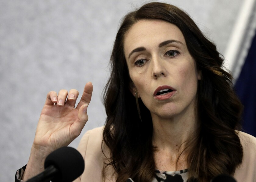 New Zealand Prime Minister Jacinda Ardern addresses a news conference March 13 in Christchurch, as events began to mark the anniversary of the 2019 terrorist attack.