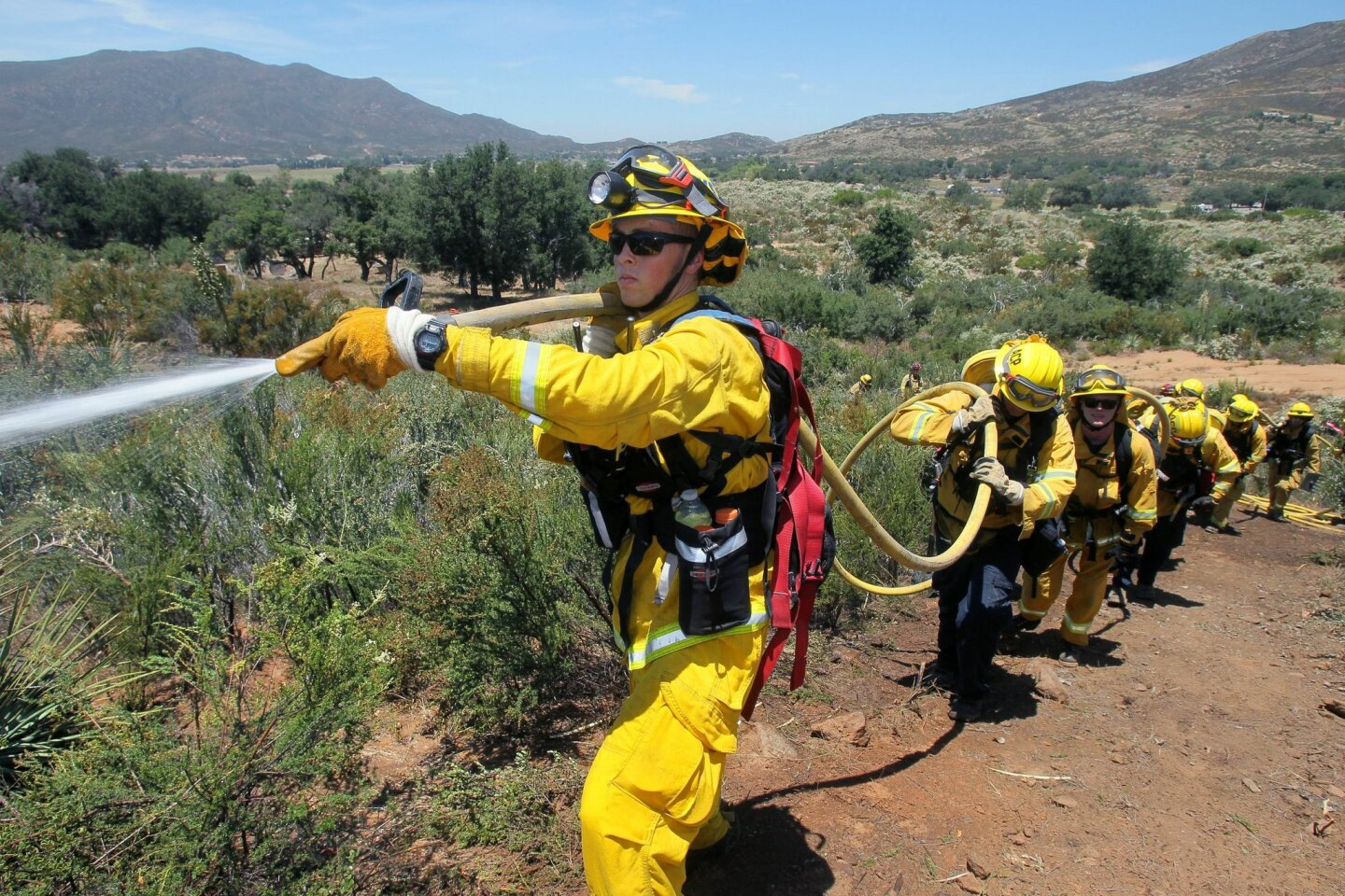 3 day firefighting drill in East County
