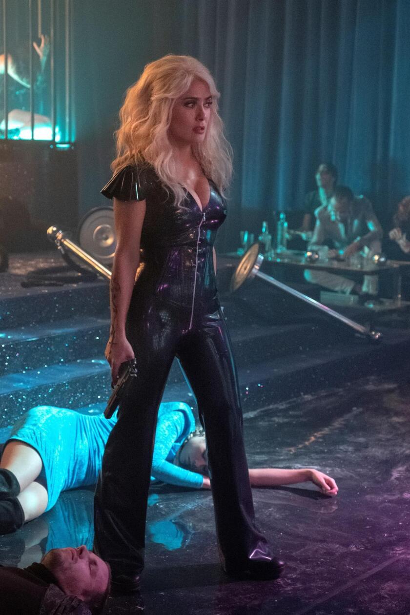 """Salma Hayek como Sonia Kincaid, durante una escena de la película """"Hitman's Wife's Bodyguard""""."""