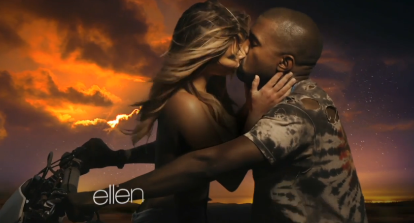 """Kanye West premiered the music video for his song """"Bound 2"""" Tuesday on """"Ellen."""""""