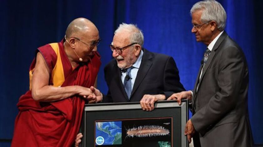 In 2015 the Dalai Lama accepted an image of a deep-sea worm named Sirsoe dalailamai after him by Scr