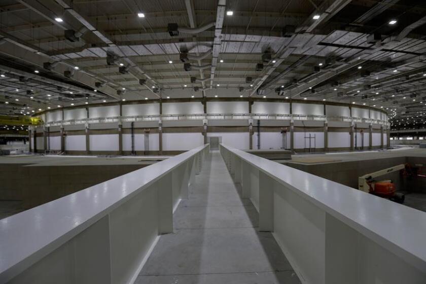 Fotografía del 14 de noviembre de 2018 del interior del complejo del acelerador de electrones Sirius en Campinas (Brasil). EFE/Archivo