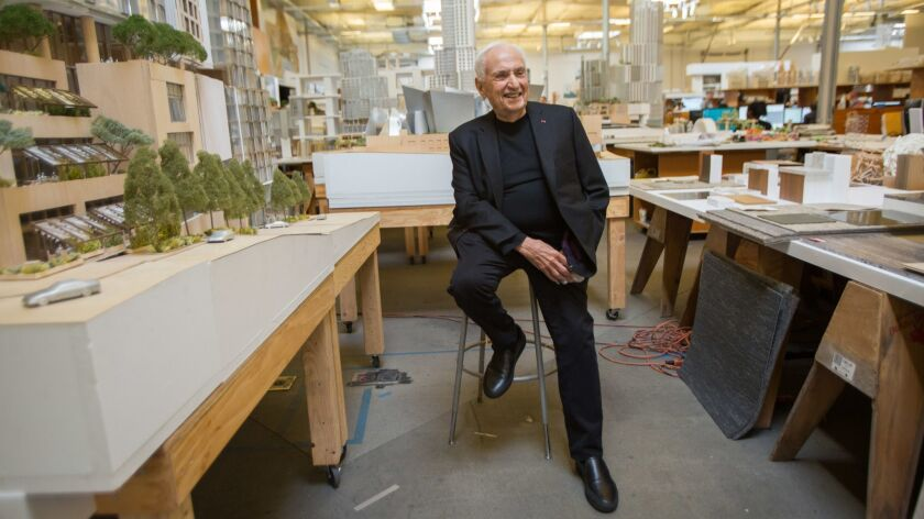 Frank Gehry at his office in Los Angeles.
