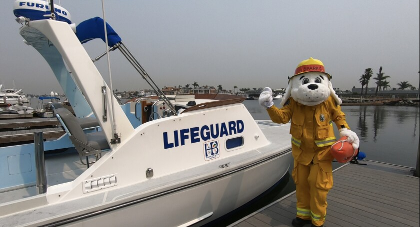 Sparky the Fire Dog is featured in videos made by the Huntington Beach Fire Department for its virtual open house this year.