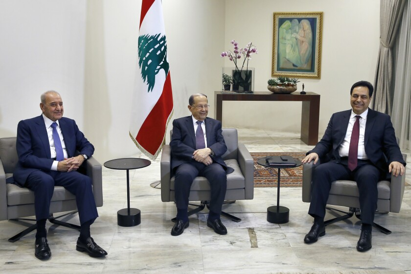 New government announced in crisis-hit Lebanon, ending a 3-month vacuum