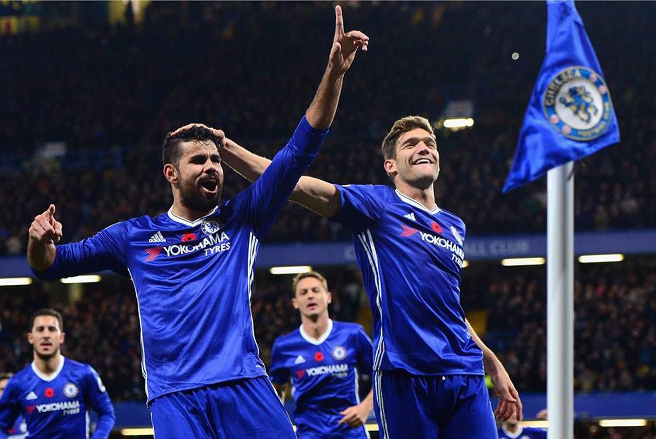 Premier: Chelsea 5 - 0 Everton