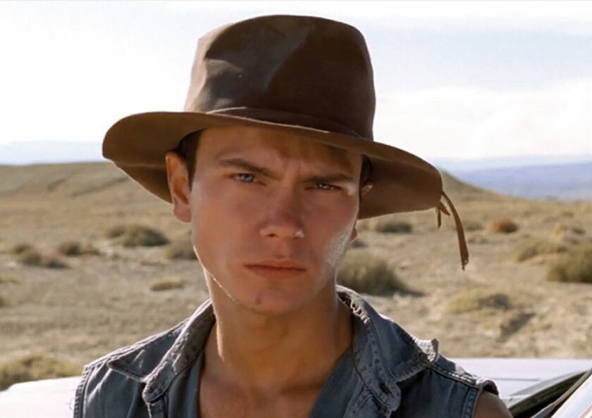 """River Phoenix in a scene from his final film """"Dark Blood,"""" directed by George Sluizer."""