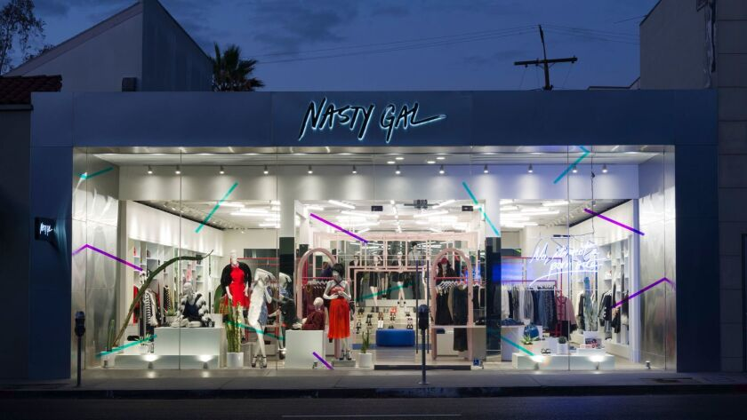 The Nasty Gal store on Melrose Avenue is one of two brick-and-mortar stores the company operates in Los Angeles.