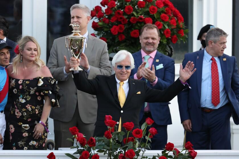 Bob Baffert won his record seventh Kentucky Derby on Saturday with Medina Spirit.