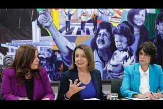 House Minority Leader Nancy Pelosi holds roundtable at CHIRLA