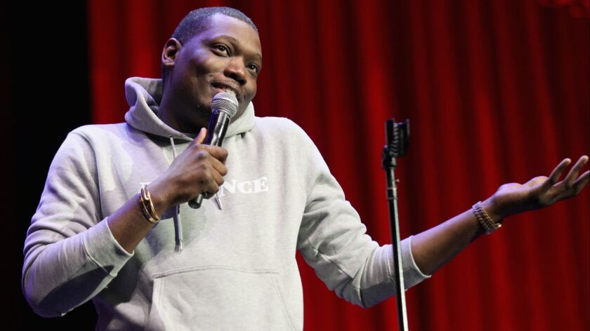 Michael Che performs during Clusterfest in San Francisco.