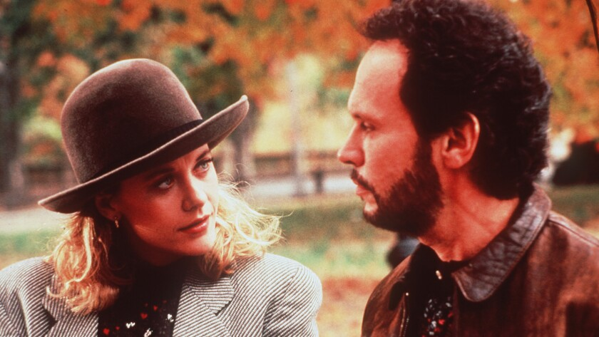 """Meg Ryan and Billy Crystal in the 1989 film """"When Harry Met Sally."""""""