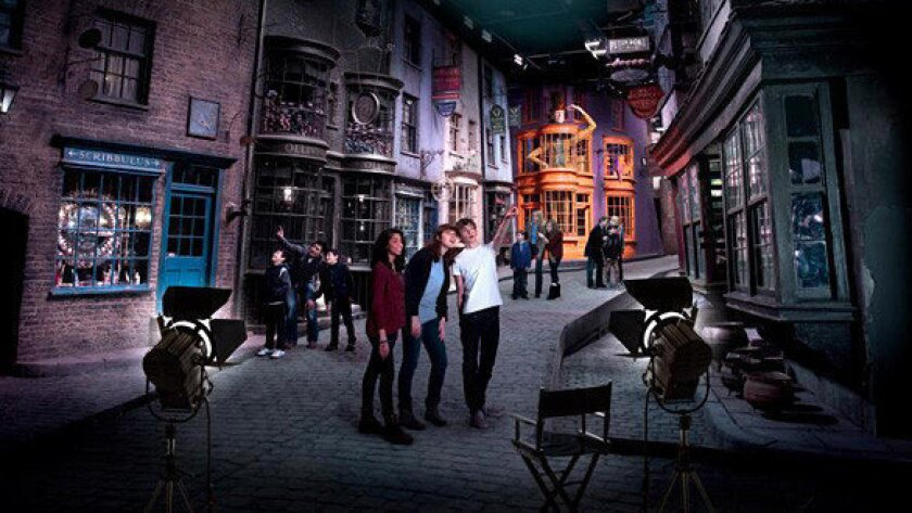 Visitors can roam the Diagon Alley set at the Making of Harry Potter tour at Warner Bros. Studios in England.