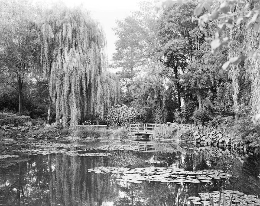 """""""Combray (Giverny III)"""": In this and other photos, Elger Esser sought to create an antithesis of Claude Monet's colorful work."""