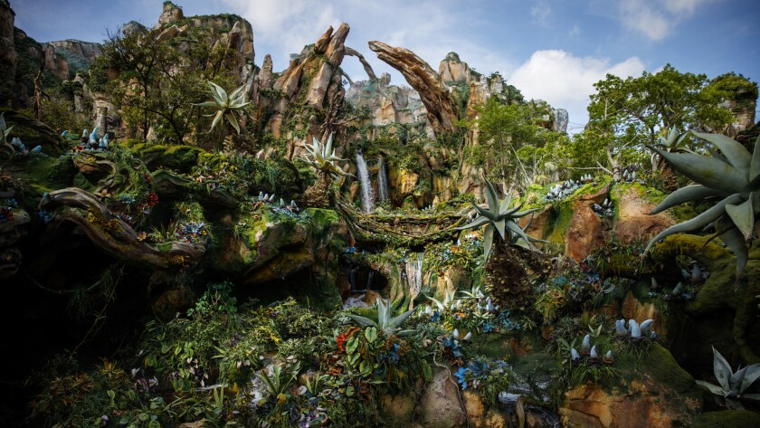 A look at the mountains of Pandora -- the World of Avatar.