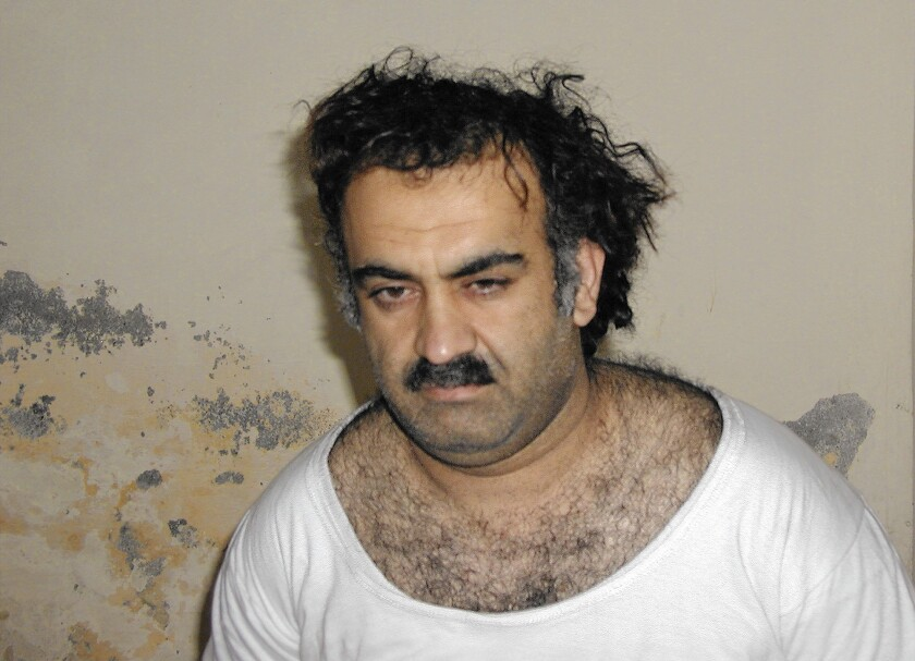 Khalid Shaikh Mohammed shortly after his capture in 2003 in Pakistan.