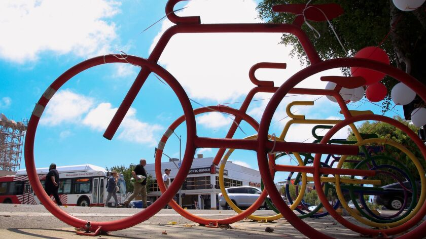 New bike racks are part of an ambitious bike lane project in Hillcrest