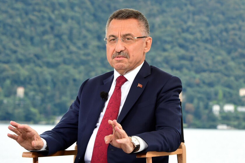 Turkish Vice President Fuat Oktay.