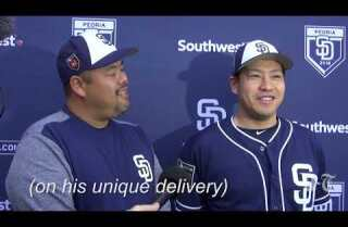 Kazuhisa Makita on joining the Padres and his unique delivery