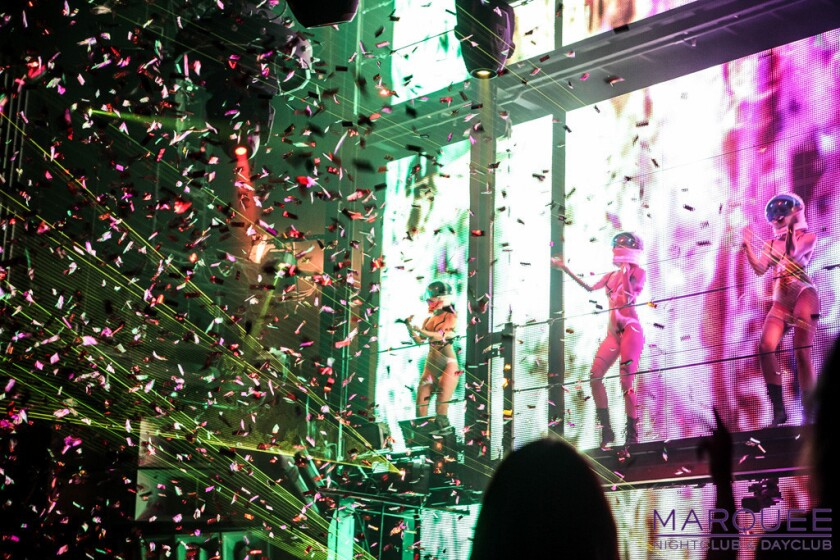 Nightclubs and dayclubs like Marquee (pictured) are not just standalone venues inside of casinos, but essential parts of the Vegas resort experience. (Photo Courtesy Marquee Nightclub)