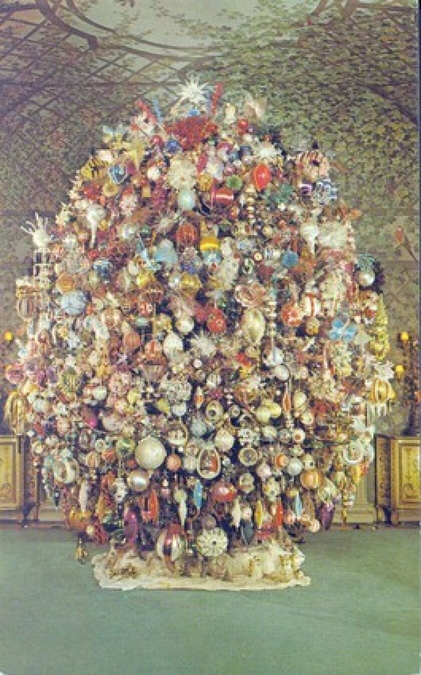 Silent film star Harold Lloyd decorated this Christmas tree in 1965.