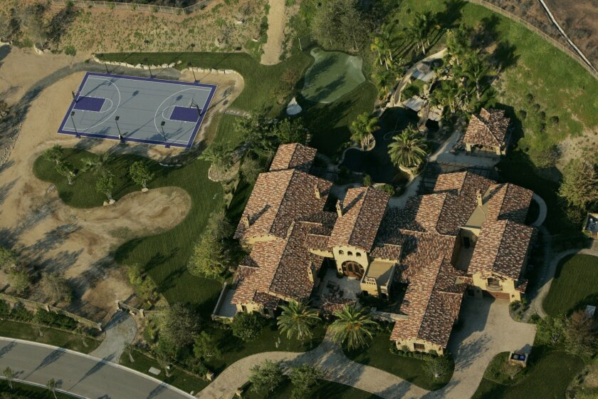 LaDainian Tomlinson's former Poway home sits on 13 acres and includes a basketball court and golf green.
