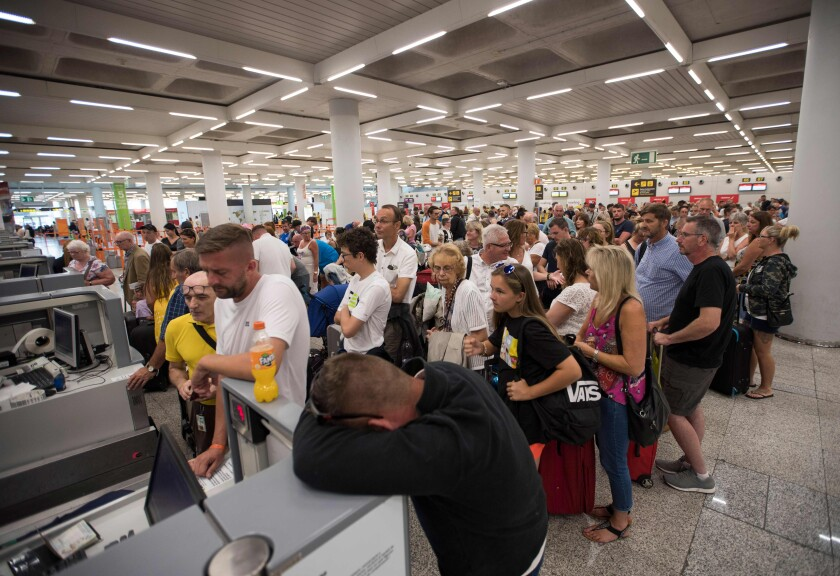 Stranded Thomas Cook travelers