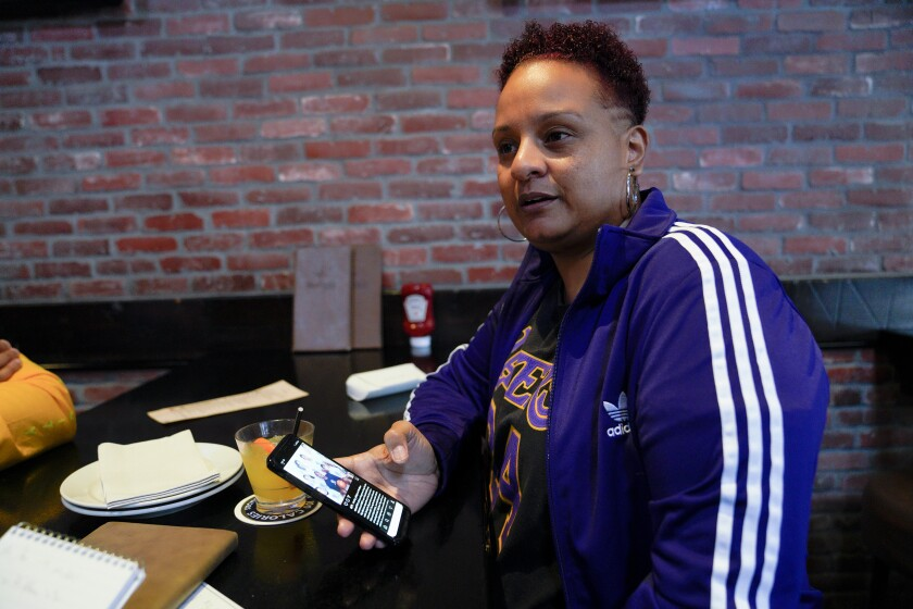 Long time fan of Kobe Bryant, Sabrina Sanderlin of La Mesa was described as moping around the house when a friend took her to True North Tavern on Sunday January 26, 2020 in North Park to help cheer up a little. Sanderlin had just gone to the game on January 15th with a friend.