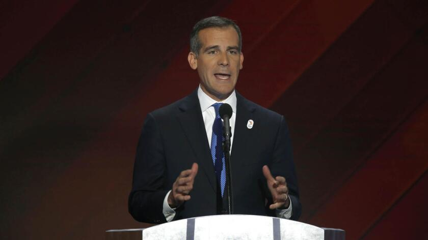 Eric Garcetti at the Democratic National Convention.