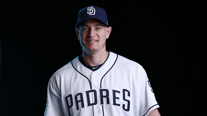 San Diego Padres pitcher Garrett Richards on Feb. 21, 2019.