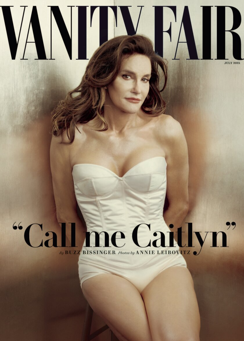 Annie Leibovitz's portrait of Caitlyn Jenner, the Olympian and transgender celebrity formerly known as Bruce Jenner, on the cover of Vanity Fair.