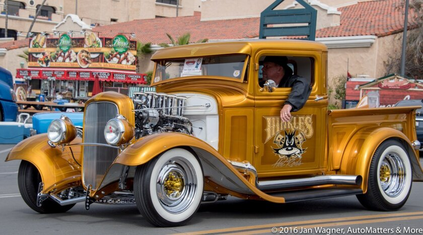 One of many cool customs cruising the Del Mar Fairgrounds