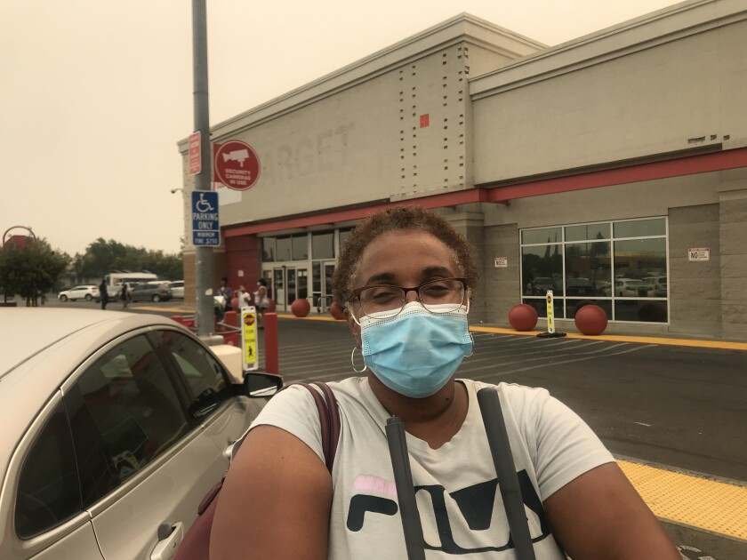 Kechia Gallardo seen outside of a Target in Stockton.